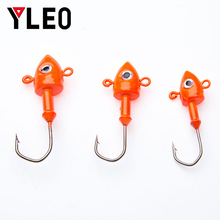 YLEO 5/pcs Lead head hook  1.5g 2g 3.5g 5g 7g 10g 14g Head Hook Fishing Hooks For Soft Lures Tackle Weight