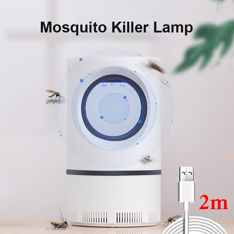 2020 Electric Mosquito Killer Lamp 1m/2m USB Powered No Noise Insect Killer Bug Zapper Mosquito Trap Light For Home Bedroom