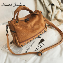 Herald Fashion Nubuck Leather Hand Bags Female Top-handle
