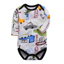 Newborn Bodysuits 100%Cotton Toddler Boy Jumpsuit Clothes Long Sleeve Infant Winter Baby Bodysuit Set Ropa Kids