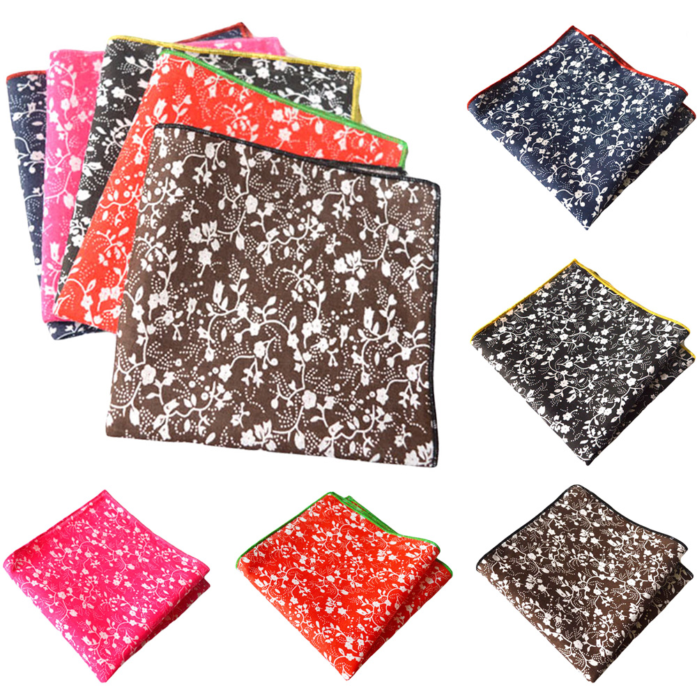 Men Stylish Pocket Square Floral Printed Handkerchief Men's Accessories Wedding BWTYX0308
