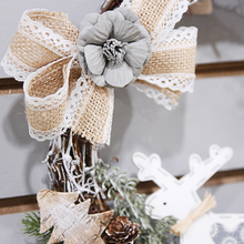 Christmas Pine Cones Flower Wreath Simulation Vine Circle Day Banquet Home Decorations