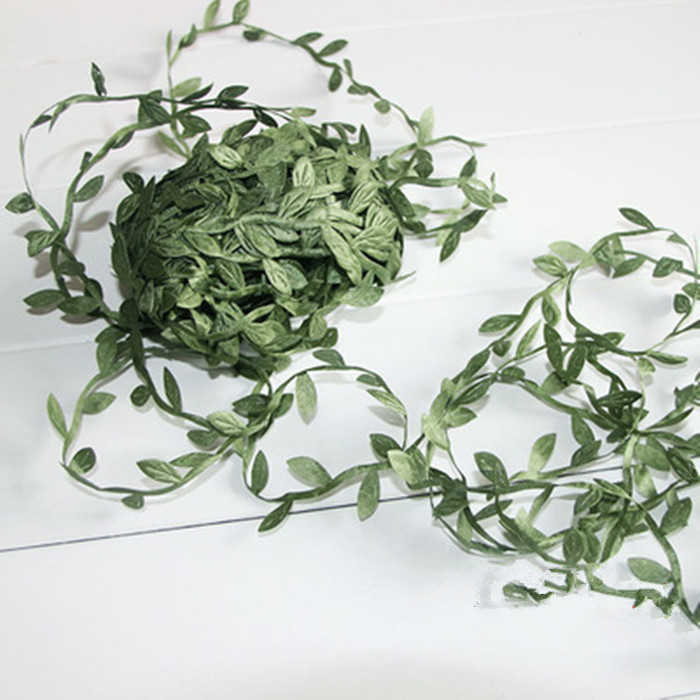 Garland Hair Bands Handmade Accessories DIY Accessory Material Rattan Leaves Green Leaf Bracelet Garland Rattan 100 Cm