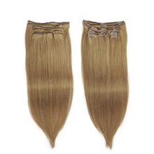 Human-Hair Extensions Blonde Remy-Clip Clip-Ins Isheeny Full-Head Seamless Natural Brazilian