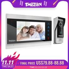 TMEZON 7 אינץ TFT Wired אינטרקום וידאו מערכת עם 1x 1200TVL עמיד למים דלת טלפון מצלמה, תמיכת הקלטה/תמונת מצב פעמון
