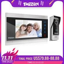 Tmeزون 7 بوصة TFT السلكية فيديو نظام اتصال داخلي مع 1x 1200TVL مقاوم للماء كاميرا الهاتف الباب ، ودعم تسجيل/لقطة الجرس