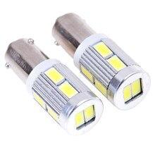 2 uds. De luz LED de esquina, luz de estacionamiento, bombilla de luz trasera, DC 12v, H6W, ba29s, 10SMD