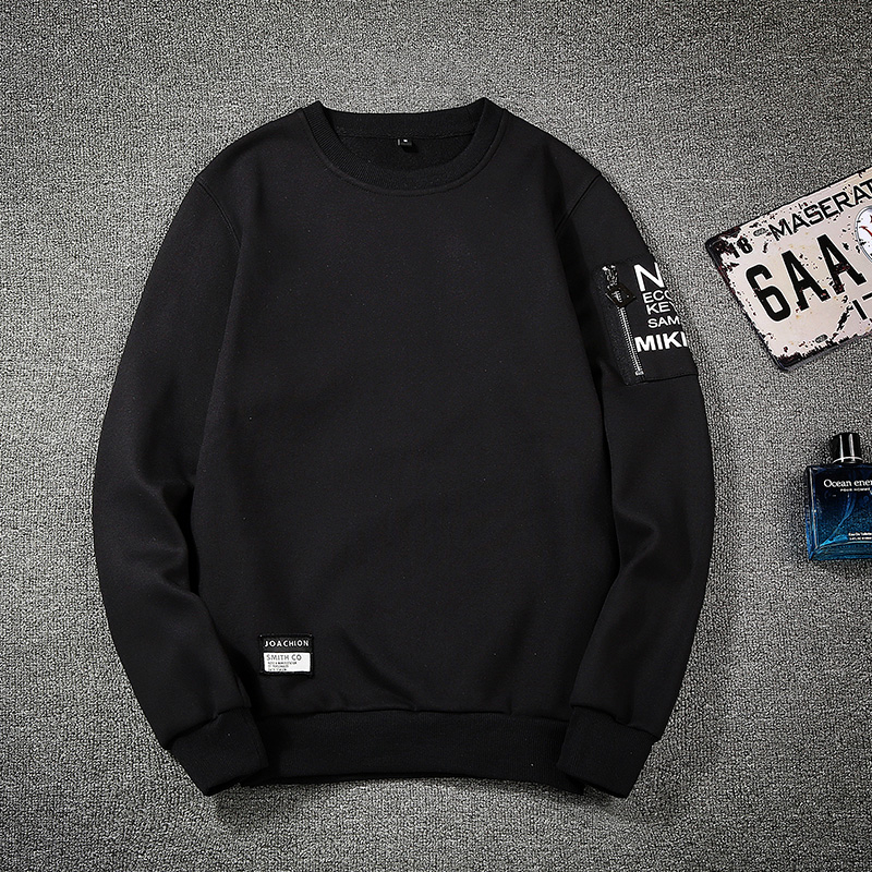 Hip Hop Sweatshirt Man Long Sleeve Mens No Hood 2020New Hoodies Dress Pullover Sweatshirts Zipper Mens Sweatshirt Homme Tops 4XL