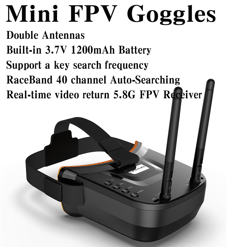 LST-009 Mini FPV Goggles 3 Inch <font><b>480</b></font> X <font><b>320</b></font> Display 5.8G 40CH Built-In 3.7V 1200mAh Battery 5.8GHz 40CH Receiver FPV Goggles image