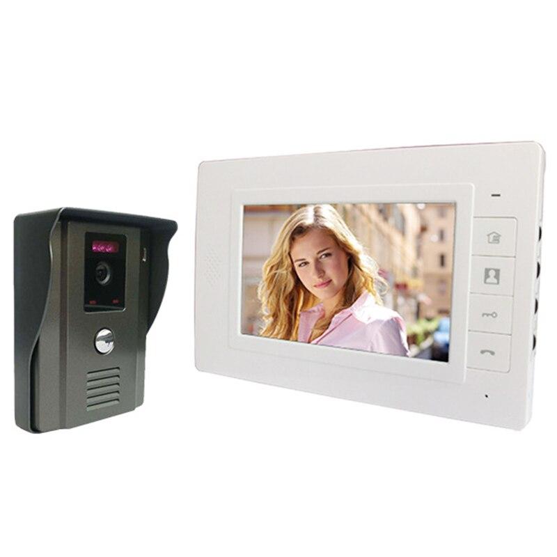 7 дюймов Tft Lcd Экран видео-телефон двери видео Intercome, режимом ночной съемки, g-сенсором и КМОП-матрица для системы наружной безопасности