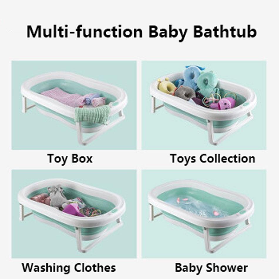 Easy Folding Baby Bath Tub With Non slip Cushion For Safe New Born Baby Bath Tub 27