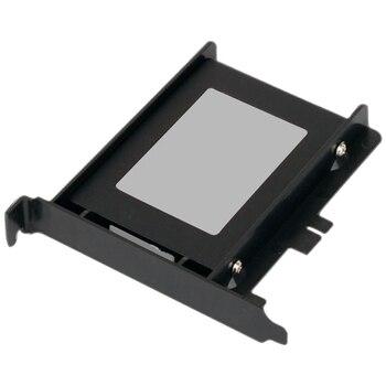 Soporte de montaje de almacenamiento Panel trasero ligero Compatible SSD HDD ABS ecológico negro fácil de instalar adaptador de unidad portátil
