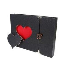 60 страниц Альбом для скрапбукинга в форме сердца, свадебное украшение, книги ручной работы с памятью, фирменные гостевые книги для детского душа, декор для дня рождения