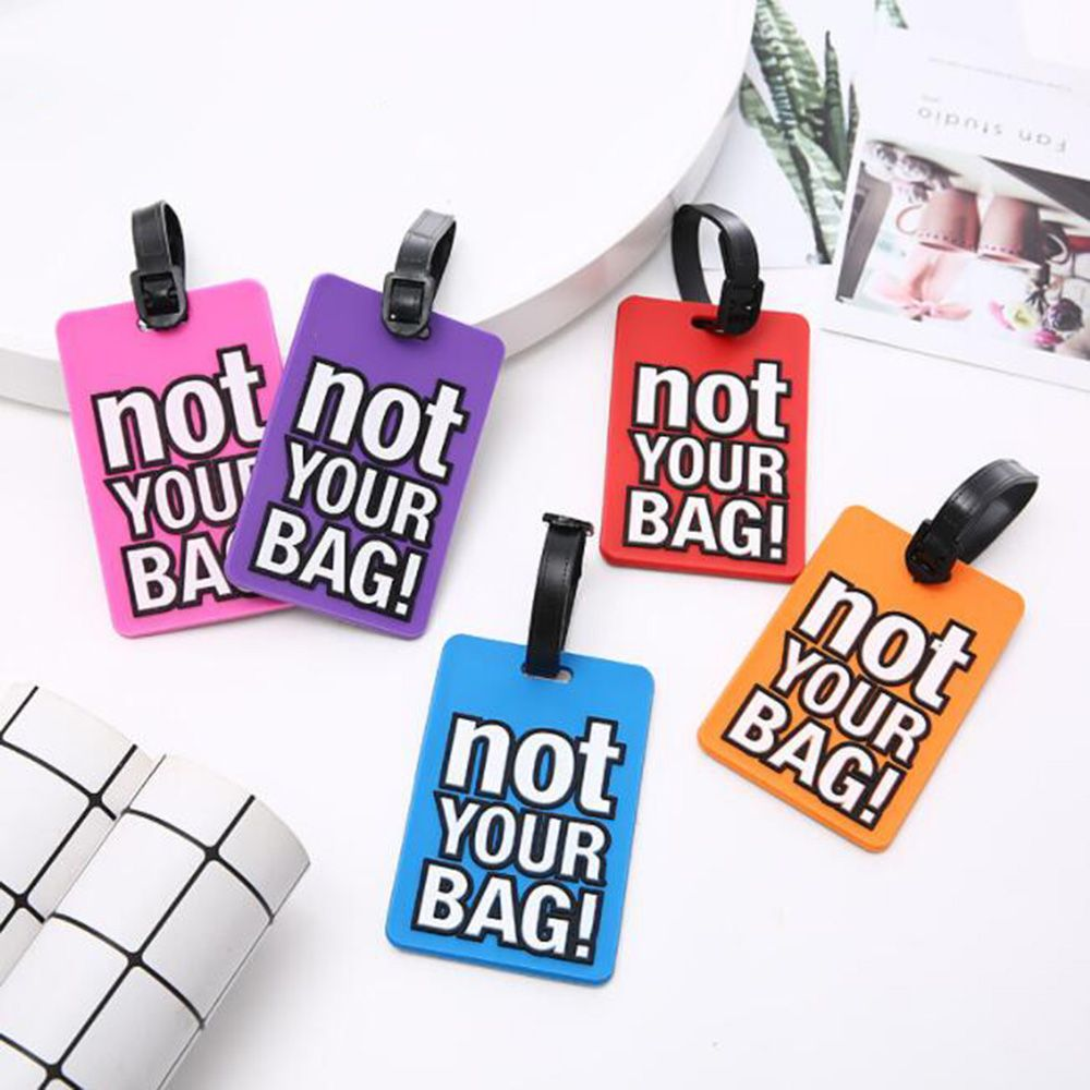 1Pc Letter Pattern Luggage Tag Fashion Silicone Letter Suitcase Name Address ID Tag Holiday Travel Label Handbag Accessories