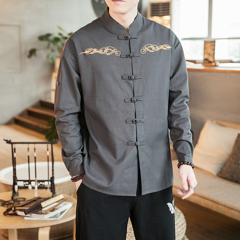 Traditional Chinese Oriental Mens Clothing For Men Chinese Tang Suit Men Traditional Chinese Male Clothing Tang Suit KK3255