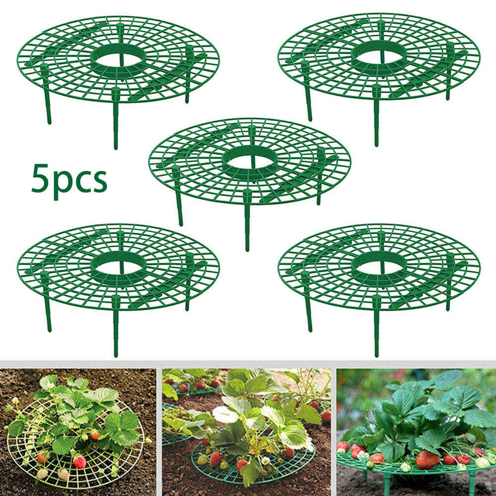5pcs Plant Plastic Tool Strawberry Growing Circle Support Rack Farming Improve Harvest Frame Lightweight Removable Racks