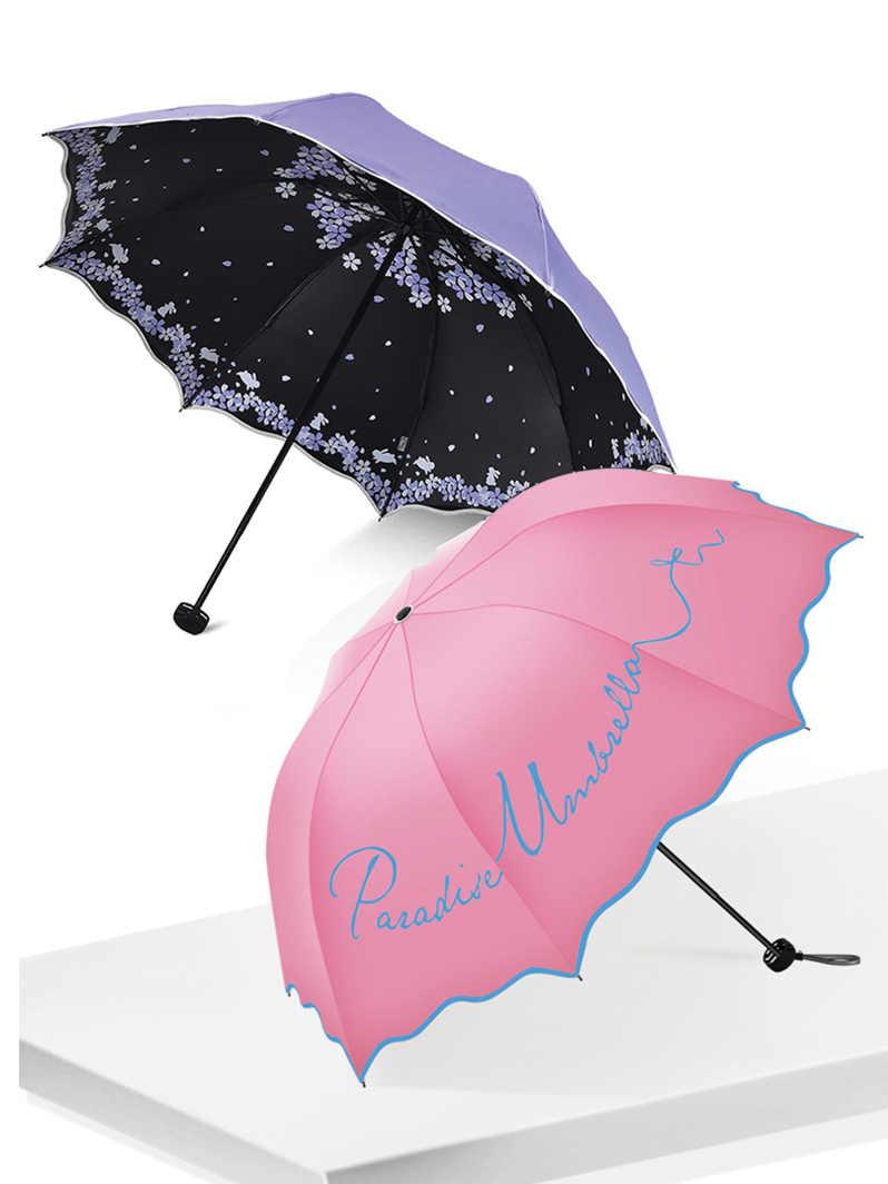 جودة مظلة قابلة للطي للنساء العلامة التجارية السفر المضادة للأشعة فوق البنفسجية يندبروف زهرة المطر عصري أنثى الشمس فتاة المظلة جيب المظلات