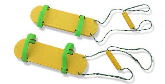 Intégration sensorielle 2 personnes jeux de sport enfant chaussures planche groupe travail jeu enfant chaussures synchrones sens de l'entraînement
