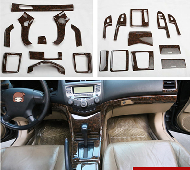 1lot Car Stickers ABS Agate Grain Inside Decoration Cover  For 2003-2007 HONDA Accord 7 MK7
