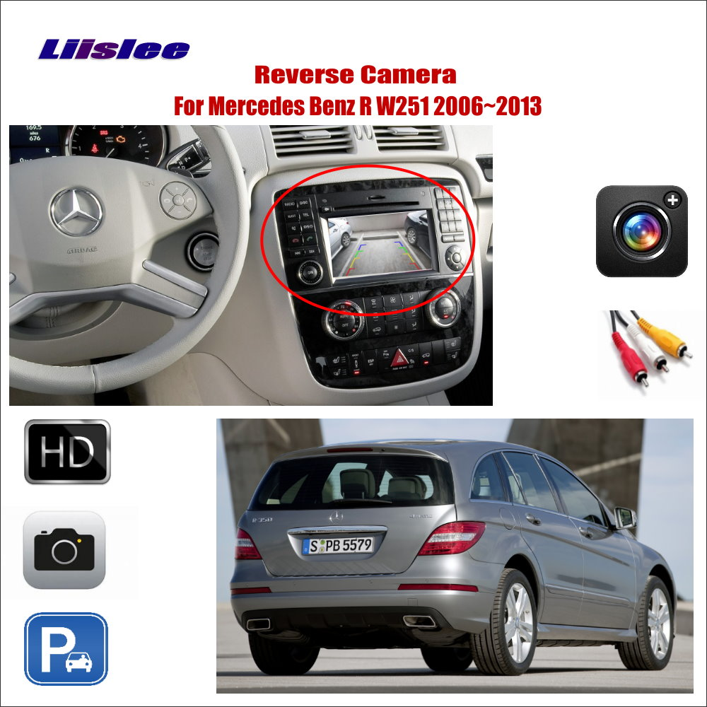 For Mercedes Benz R Class W251 2006~2013 Car Reverse Rear View Camera Compatible Connect Original Factory Screen RCA Adapter