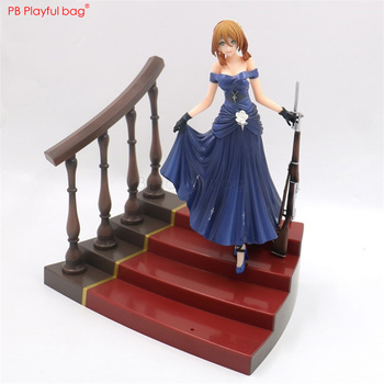 28CM Springfield M1903 action figure pvc-collectible-model Japanese-Anime-Game-collections Gorgeous dress girl model figure HE51