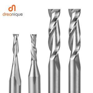 Image 5 - Дюймовая спиральная фреза с двумя фрезами, Резьбовая фреза 3,175 мм 6,35 мм, фрезерный станок с ЧПУ, компрессионная деревообрабатывающая фреза