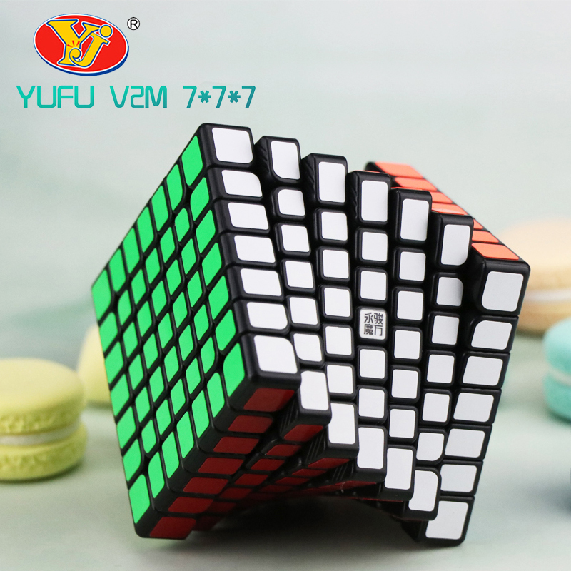 Yongjun Yufu V2M 7x7x7 Magic Magnetic Cube Stickerless Professional Magnets Puzzle Speed Cubo Migico YJ 7x7 Educational Toy Gift