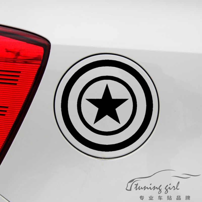 ملصقات السيارات كابتن أمريكا أعجوبة المنتقمون مضحك الشارات الديكور ل غطاء خزان الوقود الزجاج الأمامي السيارات ضبط التصميم D50