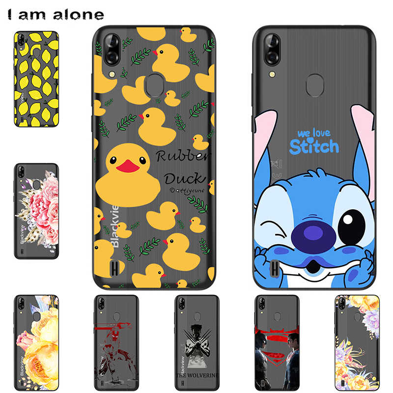 I am alone Phone Bags For Blackview A60 Pro/A60 Solf TPU Fashion Mobile Cases For Blackview A60 Pro/A60  Cover Shipping Free