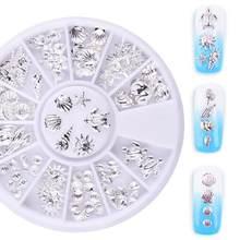 3D украшения для ногтей Стразы с кристаллами, колесо для украшения, инструмент для маникюра, заклепки для ногтей, «сделай сам», маникюр, серия...