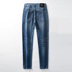 Brand Men Blue Denim Jeans Pants Stretch Fit Long Jeans Trousers High Quality Man Classic Style Denim Pants Business Jeans 40