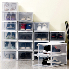 Plastic Stackable Shoe Storage Box Sneakers box Drawers for High Heels Sports Shoes Organizer Rack