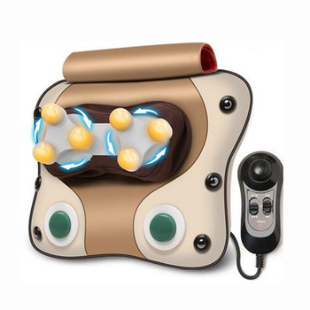 Cervical neck shoulder waist back massager instrument lumbar body massage cushion for leaning on of multifunctional pillow home