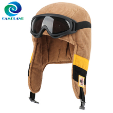 Cap Russia Earflap Bomber-Hat Ushanka-Hat Warm CAMOLAND Winter Women Windproof Outdoor