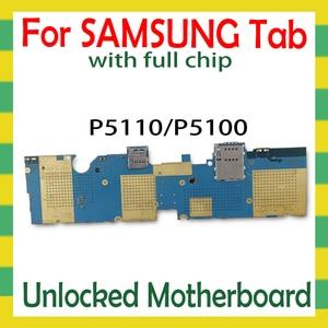 Image 2 - סמארטפון האם עבור Samsung Galaxy Tab 2 10.1 P5110 P5100 Tablet WLAN Celluar היגיון לוח עם מלא שבבי mainboard אנדרואיד