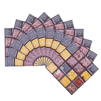 10*10cm Mosaic Self Adhesive Tile Wall Stickers Vinyl Bathroom Kitchen Home Decoration DIY PVC Stickers Decals Wallpaper 10pcs 17