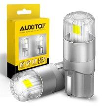 AUXITO-bombilla LED Canbus T10 W5W para Interior de coche, iluminación de 360 grados, 196 3030SMD, indicador lateral de posición de aparcamiento, 2 uds.