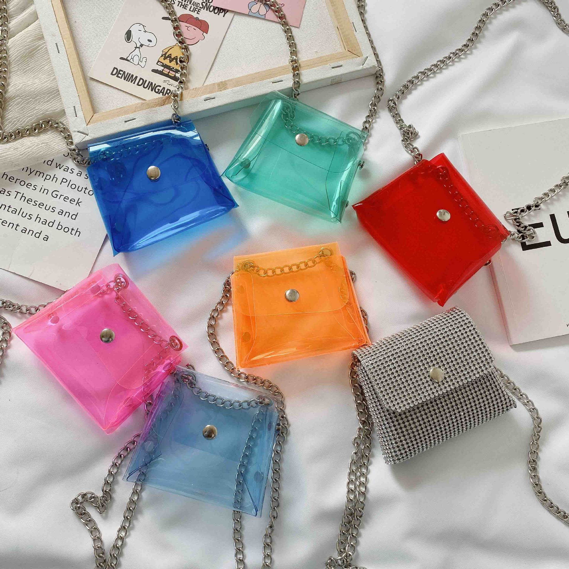Kids Mini Coin Bag 2020 Summer PVC Transparent Jelly Purse Baby Girls Small Zero Wallet Pouch Kid Clear Bag Money Change Purses