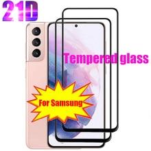Защитное закаленное стекло на экран для Samsung S21 Plus Ultra Screen Protector S10 E S9 S8 5G S20 стекла Note 8, 9, 10, 20 S 10 9 8 21 полного покрытия против царапин