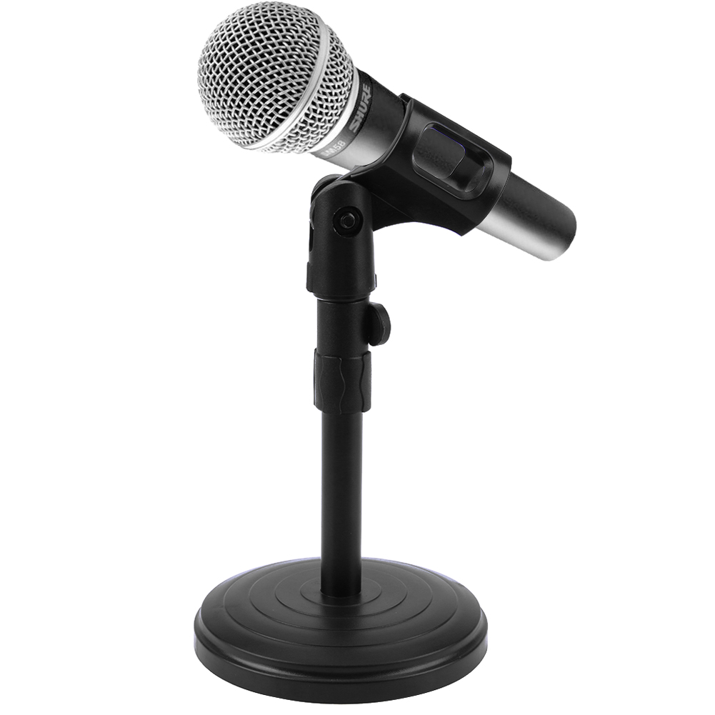 Foldable Desk Table Microphone Clip Table Stand Mic Tripod Adjustable Holder Strong Stable Microphone Trepied Holders with Clips