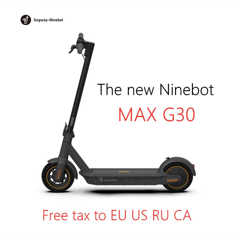 2019 പുതിയ ഒറിജിനൽ നൈൻബോട്ട് MAX G30 സ്മാർട്ട് ഇലക്ട്രിക് സ്കൂട്ടർ കിക്ക്സ്കൂട്ടർ 10inch മടക്കാവുന്ന 65km മൈലേജ് ഡ്യുവൽ ബ്രേക്ക് സ്കേറ്റ്ബോർഡ് APP
