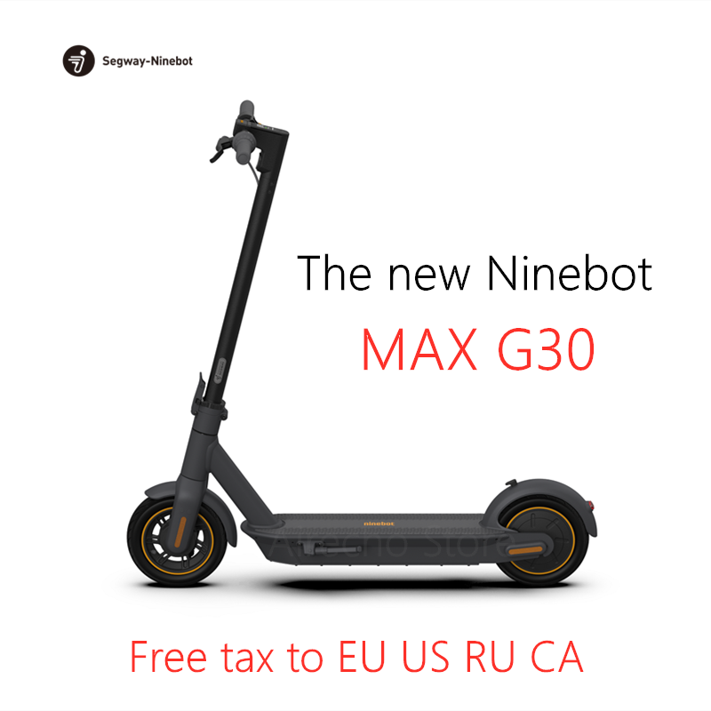 2019 NYHET Original Ninebot MAX G30 Smart Elektrisk Scooter KickScooter 10inch Hopfällbar 65km Mileage Dual Brake Skateboard With APP