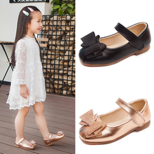 купить 2019 Child Bow Little Girls Dress Bow Princess Party Shoe For Wedding Shoes Big Kids Leather Shoes 3 4 5 6 7 8 9 10 11 12 Years по цене 706.67 рублей