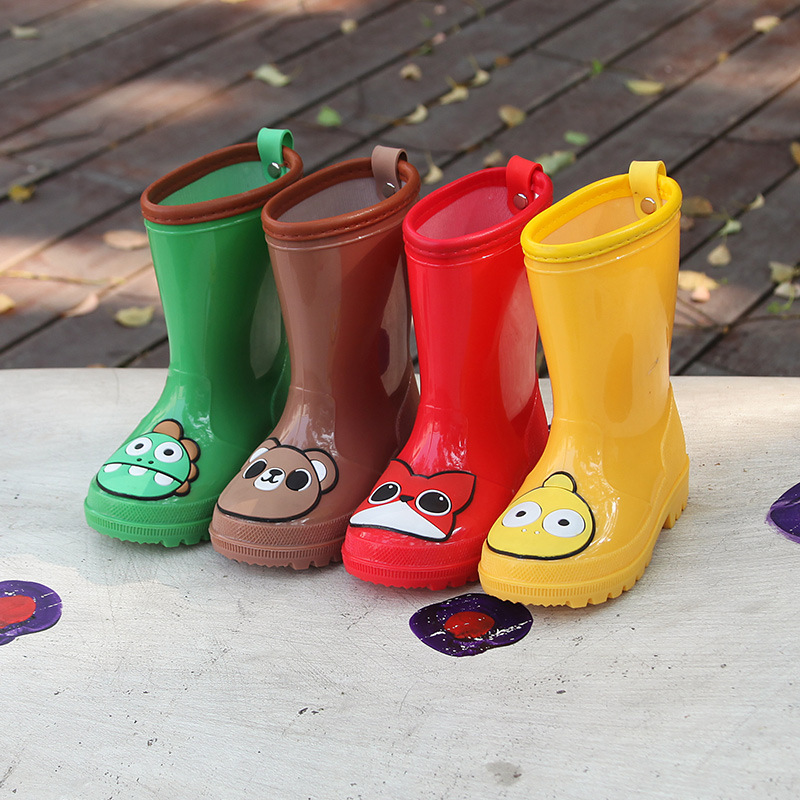 2020 Lovely 3D Cartoon Animal Pattern Childen Rubber Boots Waterproof Rain Boots Student Rain Day Outdoors Walking Shoes D03212