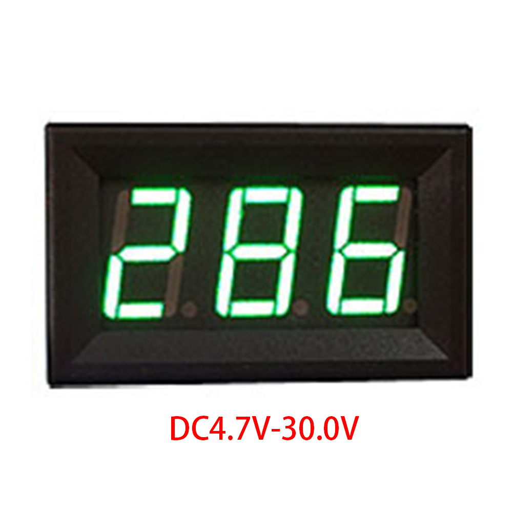0.56in Led Mini Safe Auto Detect Reverse Connection Protection Measuring Universal DC 4.5-30V Digital Voltmeter