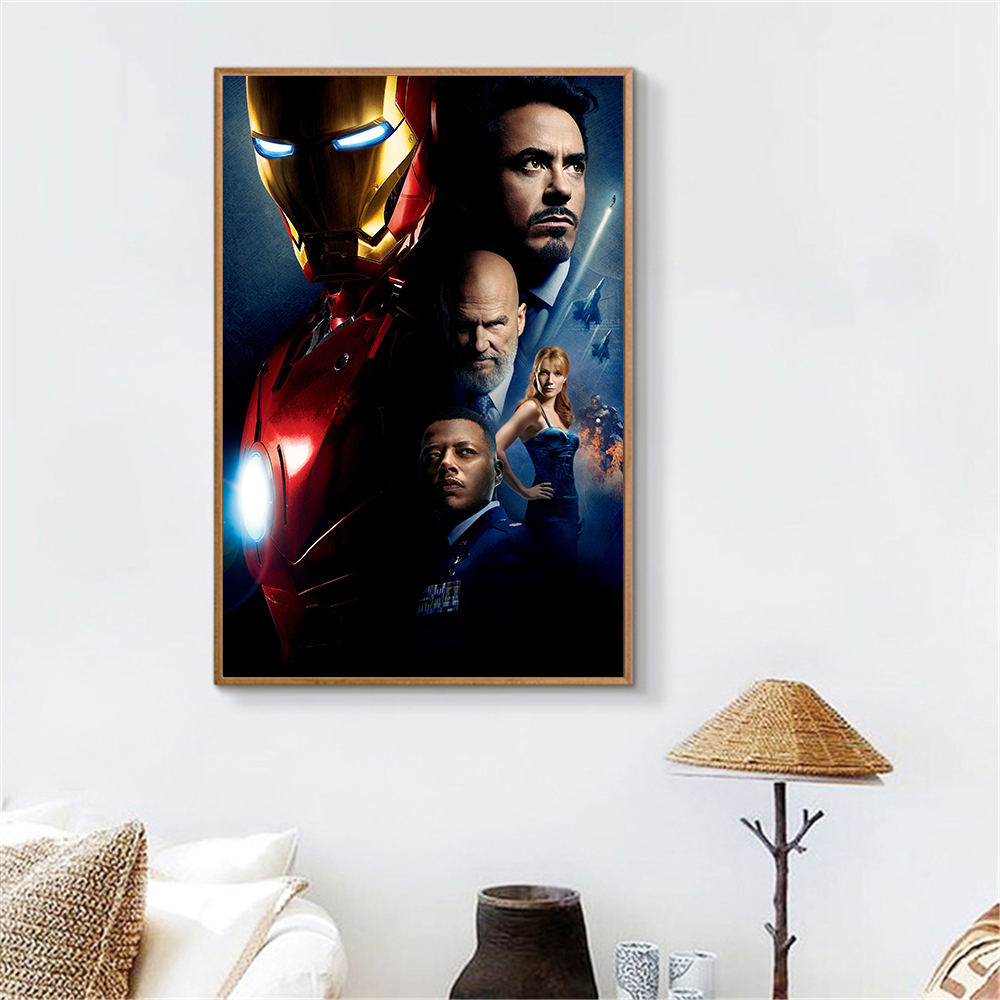 Movie Poster Marvel Wall Art Avengers Iron Man Poster Abstract Oil Painting Canvas Print Wall Picture For Living Room Decor Painting Calligraphy Aliexpress