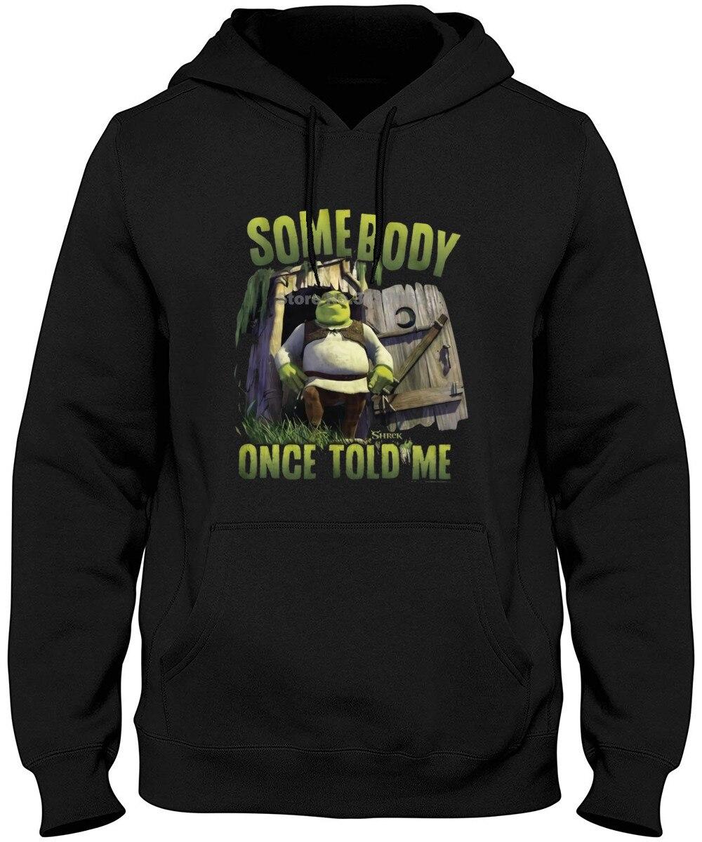 New Long Sleeve Round Collar Mens Fashion Shrek Somebody Black Adult Long Sleeve  Hoodies & Sweatshirts