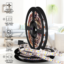 5V LED Strip USB Led Light TV Backlight 2835 1~5M Ambilight Home Lighting Desktop Lights Lamp Tape Diode Ribbon