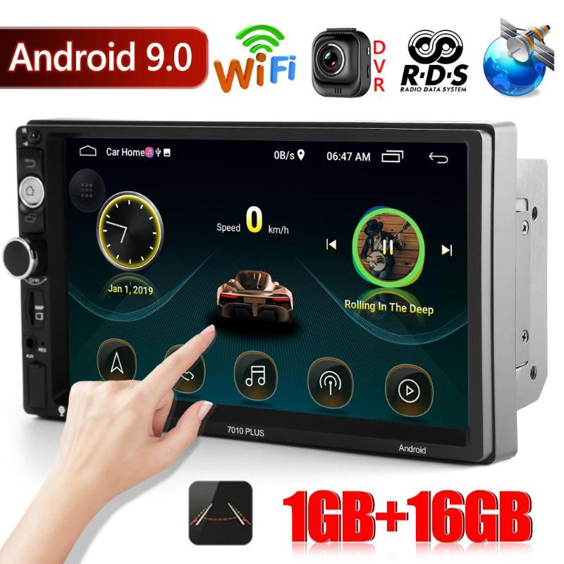 2 Din Autoradio 7 pouces Android 9.0 Autoradio WiFi GPS Navigation USB AUX Bluetooth 4.1 FM AM RDS Autoradio Coche Autoradio