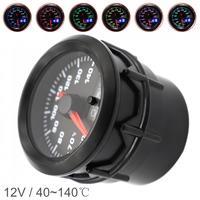 52mm 2 Polegada display duplo 12 v universal medidor de temperatura da água do motor do carro medidor temp 7 cor luz de fundo com sensor